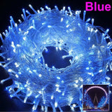 Christmas Lights 5M 10M 20M 30M 50M 100M Led String Fairy Light 8 Modes Christmas Lights For Wedding Party Holiday Home Lights