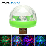 FORAUTO Car LED Decorative Lamp Mini RGB Atmosphere Light Auto Interior LED USB Club Disco Magic Stage Effect Lights Car Styling