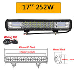 "Auxtings 5"" 14"" 17"" 20"" 23'' 3-Row LED Light Bar Offroad Led Bar Combo Beam Led Work Light Bar for Truck SUV ATV 4x4 4WD 12v 24V"