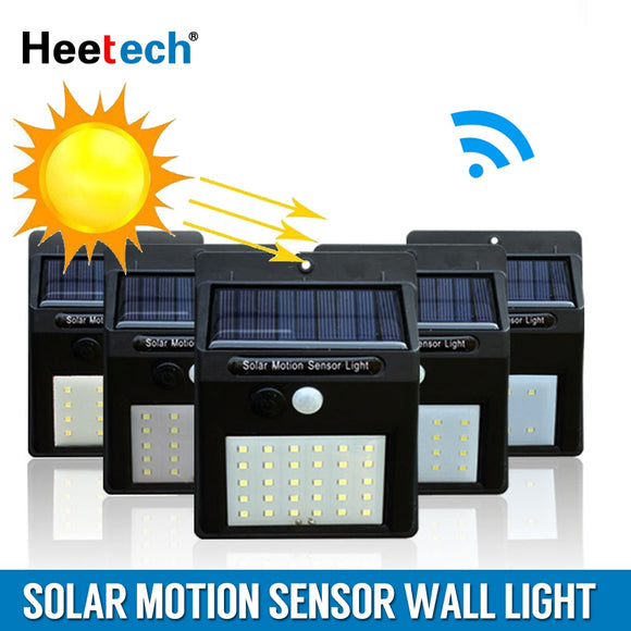 Solar Lamp Led Light PIR Motion Sensor Wall Light Outdoor Waterproof Energy Saving Garden Street Yard Path Home Security Lamp