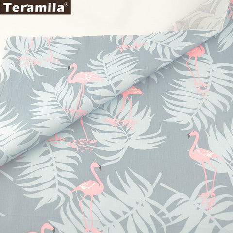 Teramila Cotton Fabric Twill Fat Quarter Soft Material Bed Sheet Light Grey Bedding Quilting Patchwork Cartoon Animals Designs