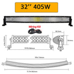 "Auxtings 22"" 32"" 42"" 52""inch Curved Led Light Bar Work Light 7D led bar 3-Row 4x4 Truck ATV Car Roof Offroad Driving EU RU stock"