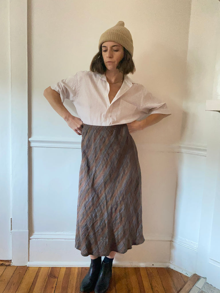 Flax Bias Skirt