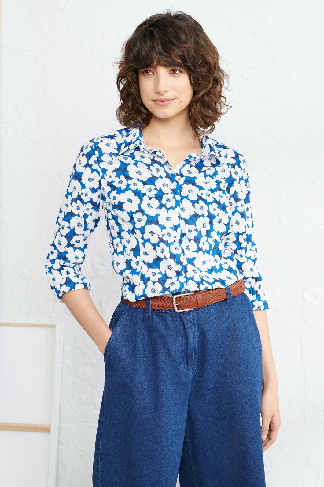 Seasalt Larissa shirt in Mallow flower cargo - CW CW