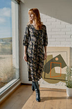Load image into Gallery viewer, Seasalt Dancers dress retro border jersey print in Smoke Grey