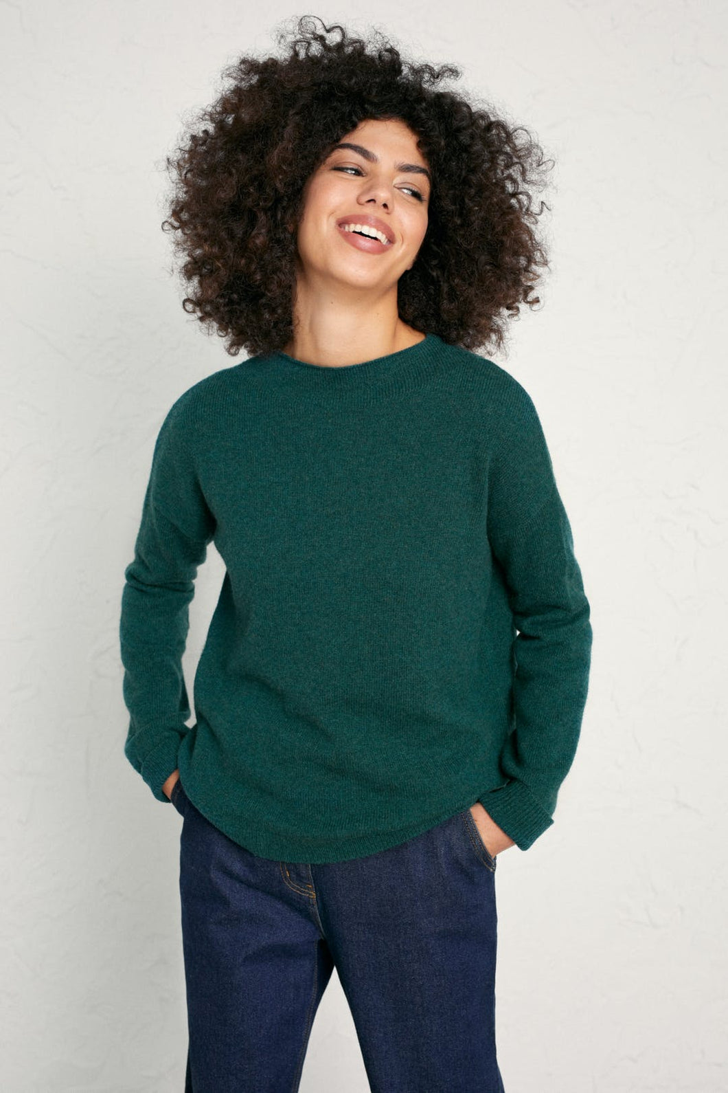 seasalt Shillings grown on neck loose fit jumper in Thicket