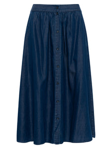 Great Plains Chambray Miso skirt in Indigo