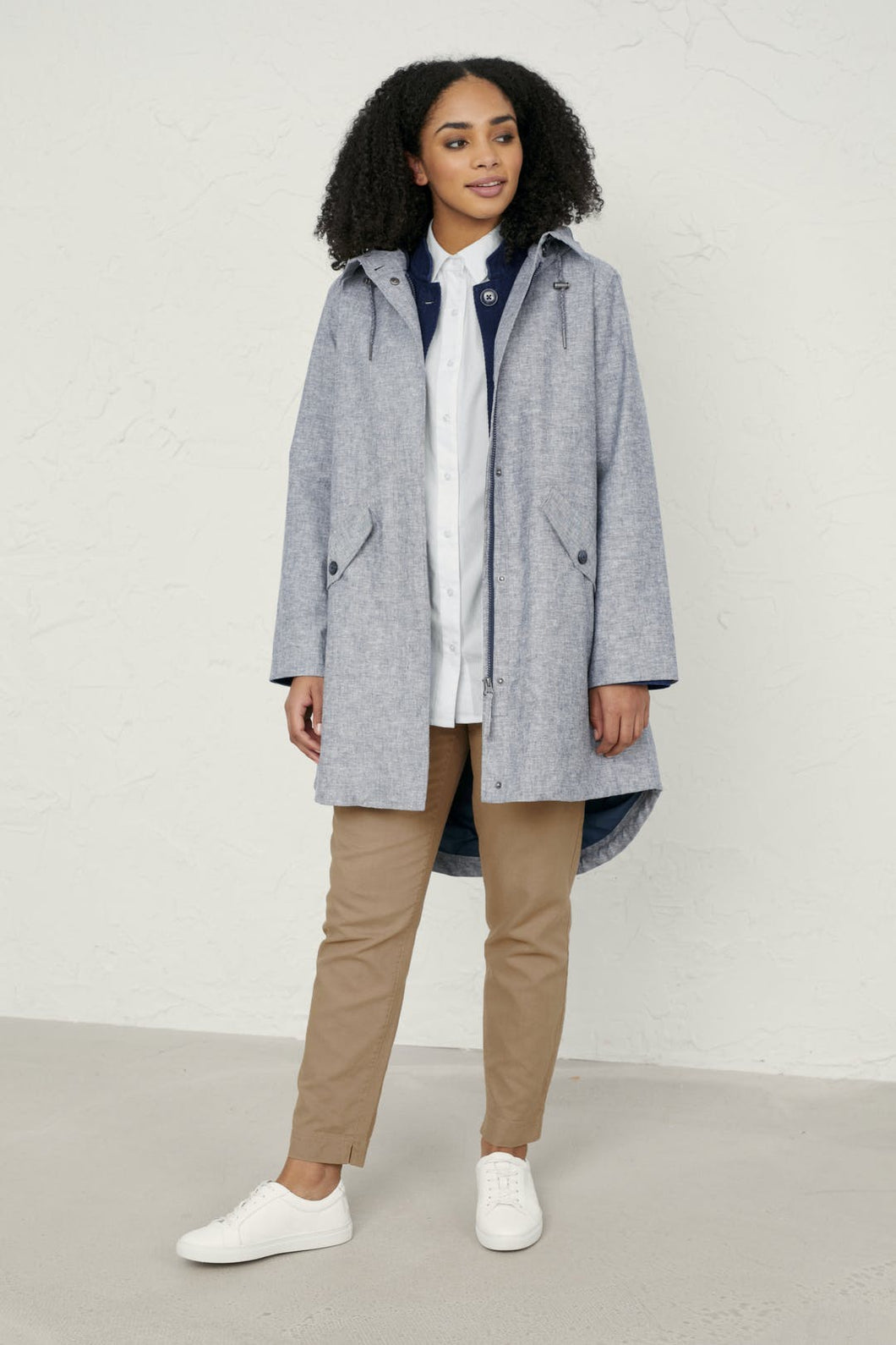 Seasalt Seafaring coat in Rosevean Light Night