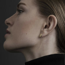 Load image into Gallery viewer, Dansk Copenhagen Theia dot hanger earring Gold Plated