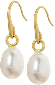 Sence Fresh water pearl drop earring in Ivory and Gold