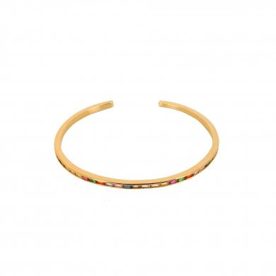Dansk Copenhagen Rainbow crystal bangle in Gold - CW CW