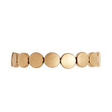 Load image into Gallery viewer, Dansk Copenhagen Vanity small flat circles bracelet in Gold - CW CW
