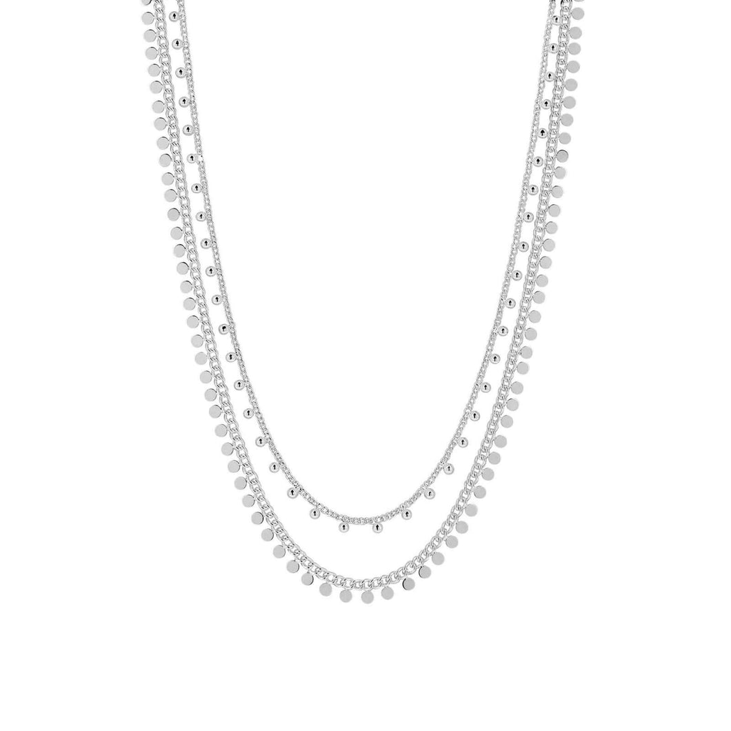 Dansk Copenhagen Indian summer double layer necklace in Silver - CW CW