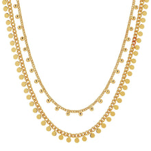 Load image into Gallery viewer, Dansk Copenhagen Indian summer double layer necklace in Gold - CW CW