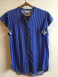 Great plains Salerno stripe shirt in Cornflower and milk - CW CW