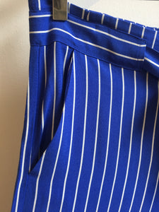 Great Plains Salerno stripe trouser in Cornflower and milk - CW CW