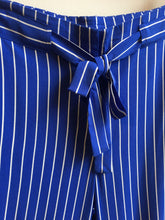 Load image into Gallery viewer, Great Plains Salerno stripe trouser in Cornflower and milk - CW CW