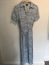 Load image into Gallery viewer, Zilch Sailor print long belted shirt dress in Heaven blue - CW CW