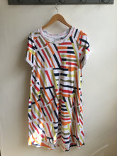 Load image into Gallery viewer, Foil Graphic print beach vibes jersey dress in Havana - CW CW