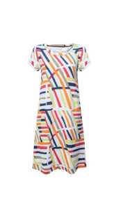 Foil Graphic print beach vibes jersey dress in Havana - CW CW