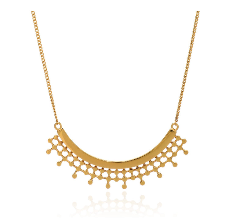 Azuni Etrusca curved necklace in Gold - CW CW