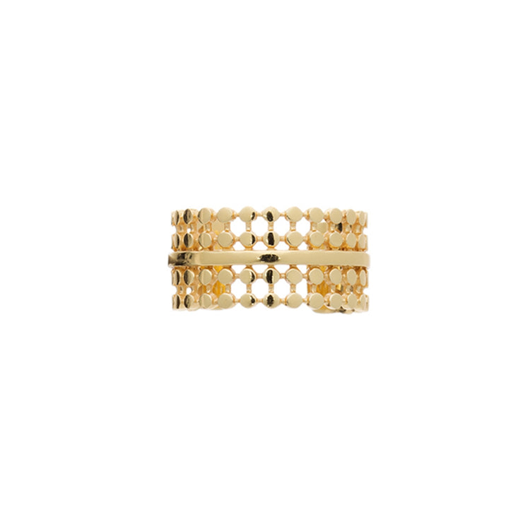 Azuni Etrusca double row ring - CW CW