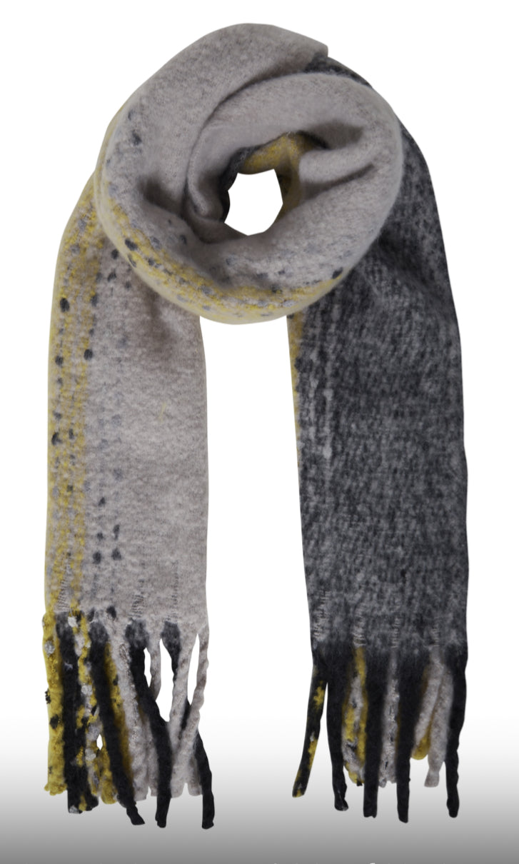 Ichi Sage super soft chunky scarf in Bronze Mist