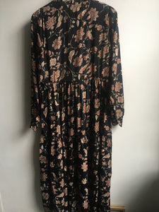 Black Colour Luna Rose boho dress in Lotus Black