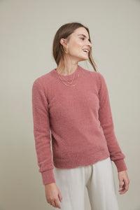 ese O ese Teddy cosy knit jumper in Lovely Rose