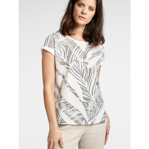 Sandwich Botanical print t-shirt in Anthracite - CW CW