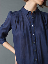 Load image into Gallery viewer, Indi & Cold Evase pleat and stitch detail shirt in Ink