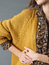 Load image into Gallery viewer, Indi & Cold Chunky knit open jacket in Mustard