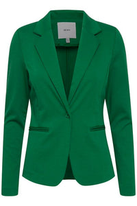 Ichi Kate fitted tailored knitted jacket in Amazon Green