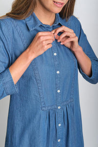 BIBICO Amelie shirt dress in Denim - CW CW