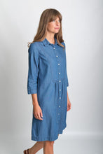 Load image into Gallery viewer, BIBICO Amelie shirt dress in Denim - CW CW