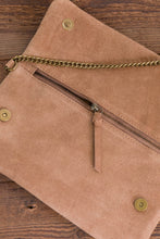 Load image into Gallery viewer, ese O ese Suede cross body bag in Camel - CW CW