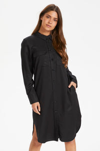 Part Two Bleona classic Lyocell shirt dress in Black