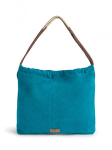 Nice things Cornely dots Suede leather hobo bag in Dark Turquoise - CW CW