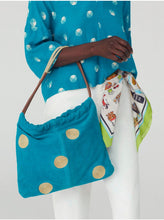 Load image into Gallery viewer, Nice things Cornely dots Suede leather hobo bag in Dark Turquoise - CW CW