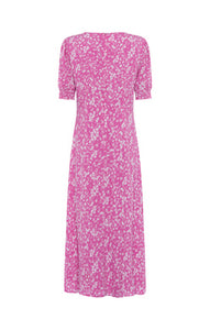 Great Plains Fresh ditsy round neck short sleeve dress in Pink