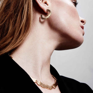 Dansk Copenhagen Edge detail necklace in Gold - CW CW