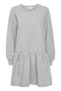 Part Two Elvia jersey sweat shirt dress in Grey Melange