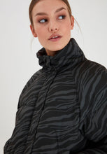 Load image into Gallery viewer, Ichi Georgette Zebra print padded jacket in Grey and Black