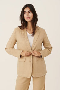 Part Two Hanna relaxed linen blazer in Incense