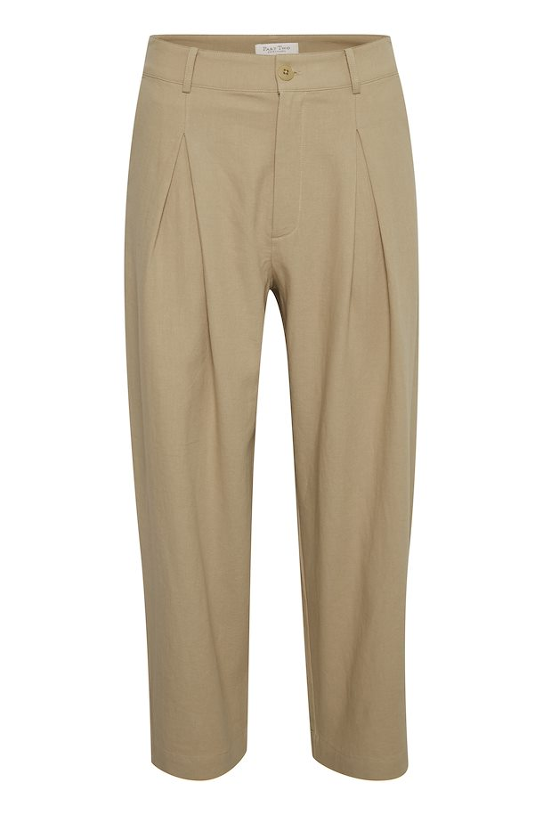 Part Two Hoa Pleat front contemporary fit trouser in Incense