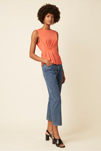 Great Plains Iyla jersey sleeveless top in Paprika - CW CW