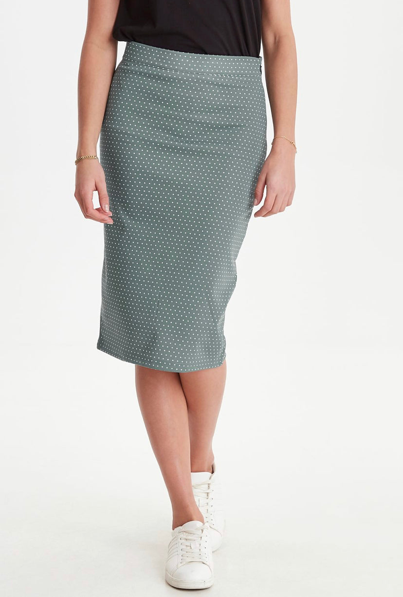 Ichi Kate polka dot skirt in North Atlantic - CW CW