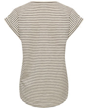 Load image into Gallery viewer, Part Two Kedita stripe print t-shirt in Navy - CW CW