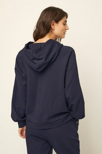 Part Two Hermina Boxy hoodie with front pouch pocket in Night Sky