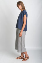 Load image into Gallery viewer, BIBICO Olga knitted sleeveless cotton top in Navy - CW CW